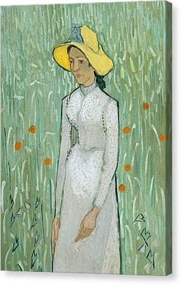 Girl In White Canvas Print by Vincent van Gogh