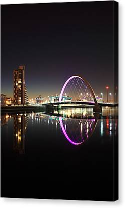 CLYDE ARC BRIDGE GLASGOW NIGHT CANVAS PICTURE PRINT WALL ART HOME DECOR