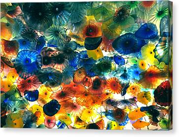 Glass Flowers Canvas Print by Ernesto Cinquepalmi