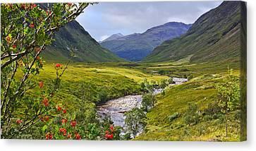 Glen Etive Scotland Canvas Print by Jane McIlroy