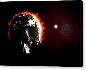Global Destruction Canvas Print by Animate4.com/science Photo Libary