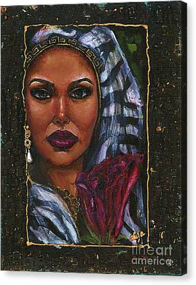 Canvas Print featuring the painting Glorious by Alga Washington