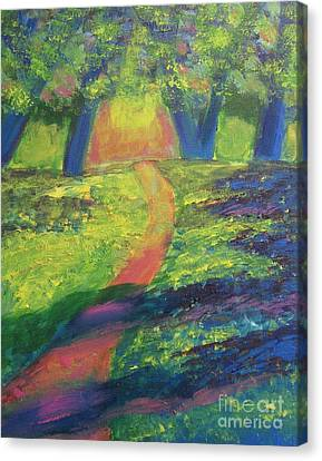 Glowing Path Canvas Print by Diana Riukas