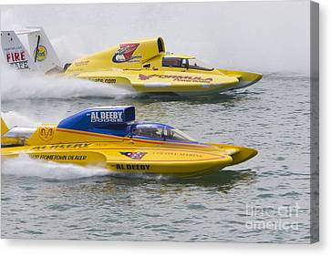 Canvas Print featuring the photograph Gold Cup Hydroplane Races by Jim West
