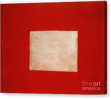 Canvas Print featuring the painting Gold Square by Fereshteh Stoecklein