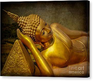 Golden Buddha Canvas Print by Adrian Evans