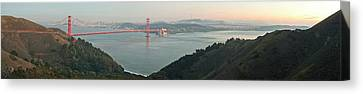 Golden Gate Bridge Across The Bay Canvas Print by Panoramic Images