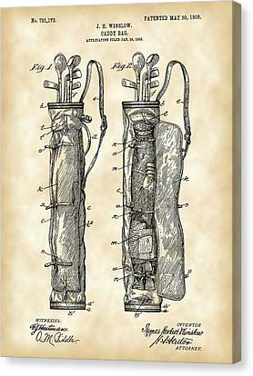Golf Bag Patent 1905 - Vintage Canvas Print by Stephen Younts