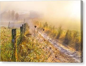 Tn Barn Canvas Print - Good Morning Farm by Debra and Dave Vanderlaan