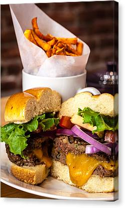 Gourmet Pub Hamburger Canvas Print