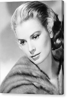 Grace Kelly, Mgm Portrait, Mid-1950s Canvas Print by Everett