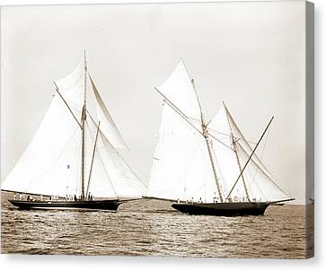 Gracie And Volunteer Foul, Gracie Yacht Canvas Print by Litz Collection