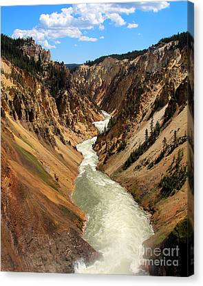 Canvas Print featuring the photograph Grand Canyon Of Yellowstone by Jemmy Archer