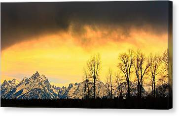 Canvas Print featuring the photograph Grand Tetons Wyoming by Amanda Stadther