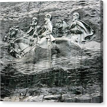 Canvas Print featuring the photograph Granite by Steve Godleski