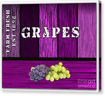 Grape Farm Canvas Print by Marvin Blaine