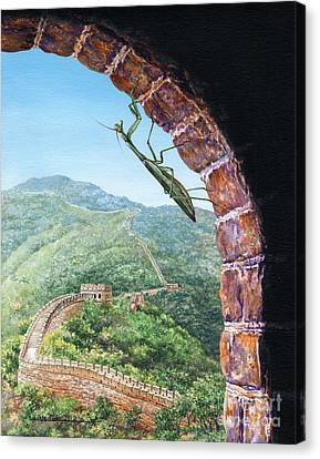 Great Wall Mantis Canvas Print by Lynette Cook