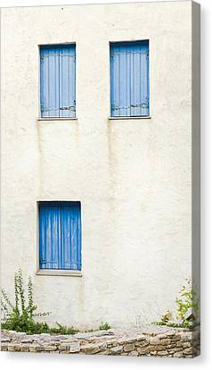 Greek House Canvas Print by Tom Gowanlock