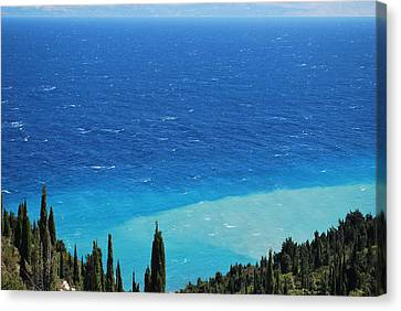 green and blue Erikousa Canvas Print by George Katechis