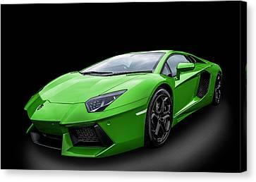 Green Aventador Canvas Print by Matt Malloy