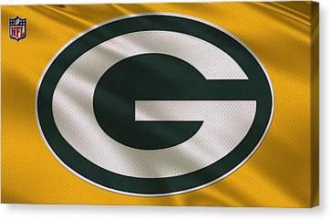 Green Bay Packers Uniform Canvas Print by Joe Hamilton