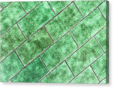 Green Tiles Canvas Print