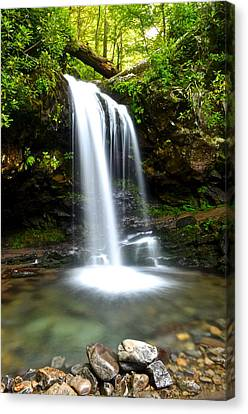 Grotto Falls Canvas Print by Frozen in Time Fine Art Photography