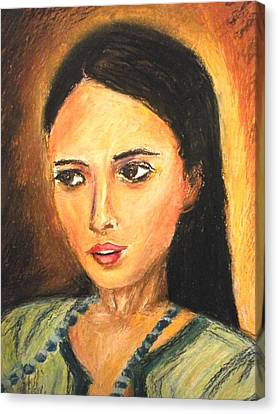 Gypsy Girl Canvas Print by Constantinos Charalampopoulos
