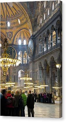 Hagia Sophia Scene Four Canvas Print by Cliff C Morris Jr