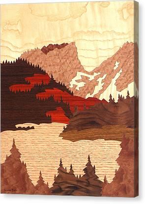 Hallett Peak Canvas Print by Lynne Buss