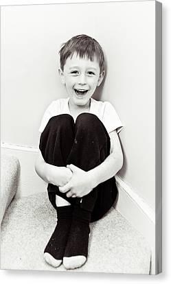 Happy Child Canvas Print by Tom Gowanlock