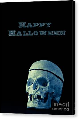 Happy Halloween Card 2 Canvas Print by Edward Fielding