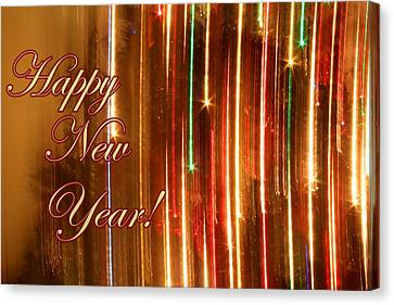 Surreal Canvas Print - Happy New Year Lights by Julia Fine Art And Photography