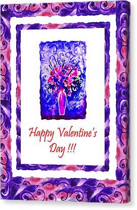 Be My Valentine Canvas Print - Happy Valentines Day by Irina Sztukowski