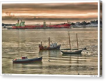 Canvas Print featuring the photograph Harbor Morning by Richard Bean