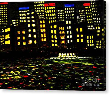 Harbour Lights Canvas Print by Leanne Seymour