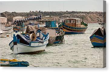 Harbour Of Marsaxlokk Malta Canvas Print by Frank Bach