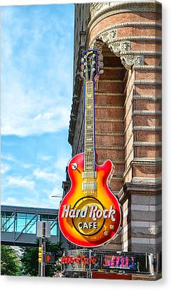Hard Rock Cafe Guitar Canvas Print by Boris Mordukhayev