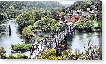 Railroad Bridge Canvas Print - Harpers Ferry by JC Findley