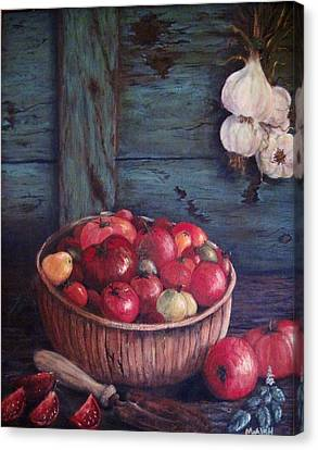 Canvas Print featuring the painting Harvest Time by Megan Walsh