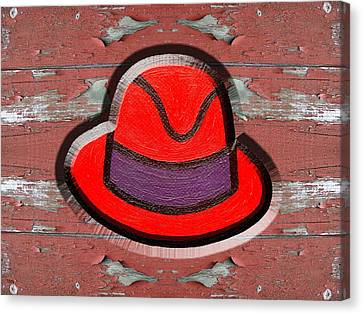 Big Red Hat Canvas Print