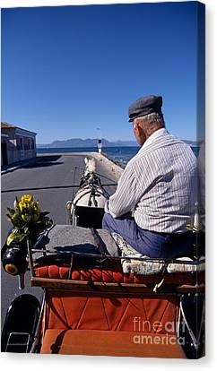 Carriages Canvas Print - Having A Ride In Aegina Island by George Atsametakis
