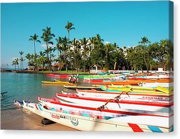 Hawaii, Big Island, Kona-kailua Canvas Print by Inger Hogstrom