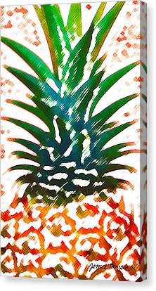 Hawaiian Pineapple Canvas Print by James Temple