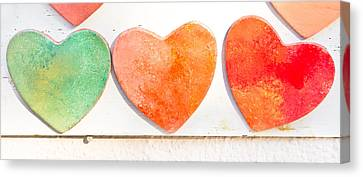 Hearts Canvas Print by Tom Gowanlock