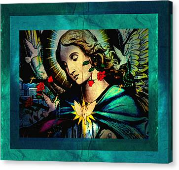 Heaven's Angel Canvas Print by Mary Anne Ritchie