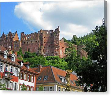 Heidelberg, Germany, Heidelberg Castle Canvas Print by Miva Stock