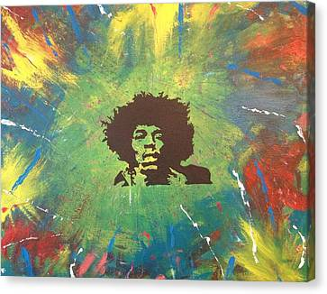 Canvas Print featuring the painting Hendrix by Scott Wilmot