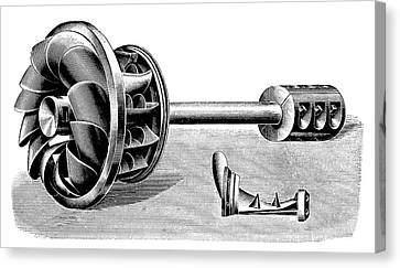 Hercule-progres Turbine Canvas Print by Science Photo Library