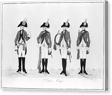 Hessian Soldiers Canvas Print by Granger